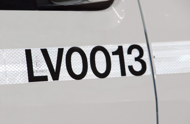Decal (Vehicle Unit Number)