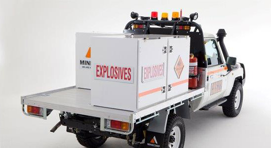 Explosives vehicle fit-out