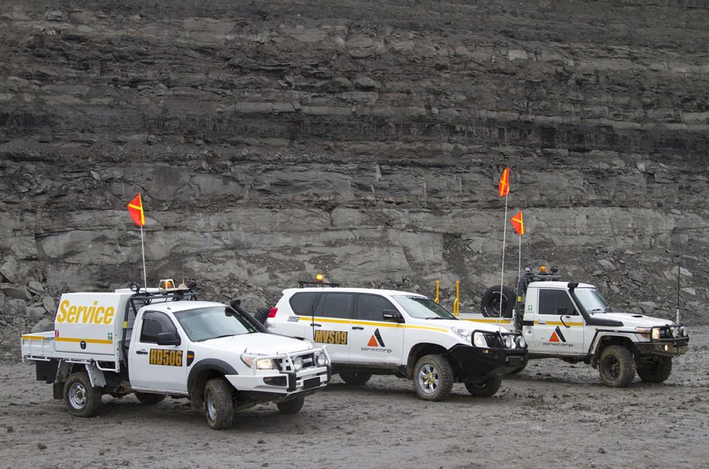 Minesite - All Vehicles - Driving Lights Bull Bar Flag