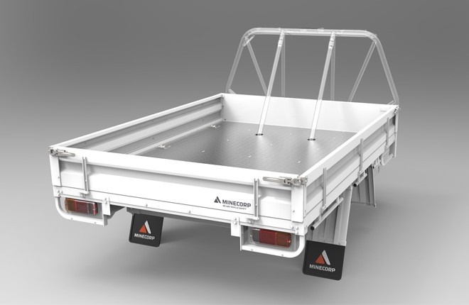Tray Body (Gal, Steel Floor, Drop Sides ROPS Compatible)
