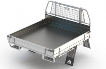 Tray Body (Alloy Floor, Alloy Drop Sides with Integrated Mesh Load Guard) Image (1)