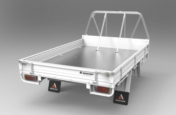 Tray Body (White, Steel Floor, Alloy Drop Sides, ROPS Compatible) Image (1)