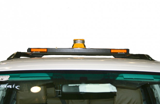 Repeater Lights Forward Facing (elevated bar assembly, stop/tail/indicator/reverse, beacon Class 1 amber rotator, reverse alarm wired through beacon switch)