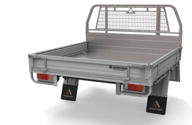 Level 3 Heavy Duty Steel Tray With Aluminium Drop Sides