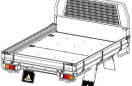 Tray Body (White, Steel Foor, Alloy Drop Sides with Integrated Mesh Load Guard) Image (4)