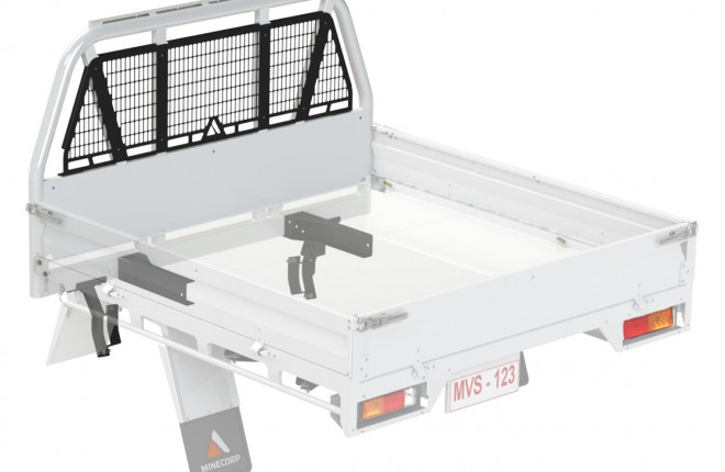 Minecorp Commercial Tray  with External Roll Bar (MCT-ERB)