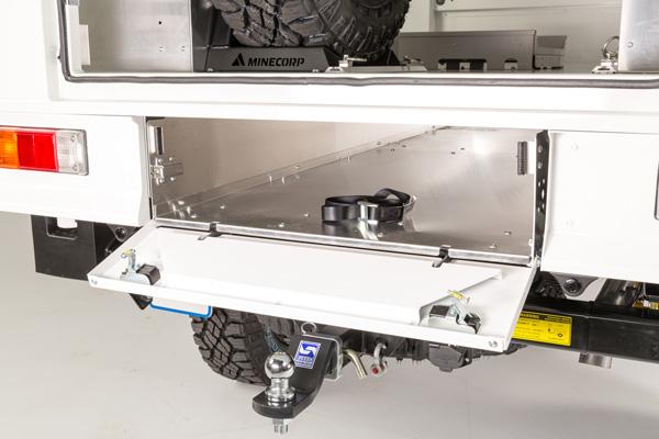 Underfloor Tool Storage & Ladder Storage